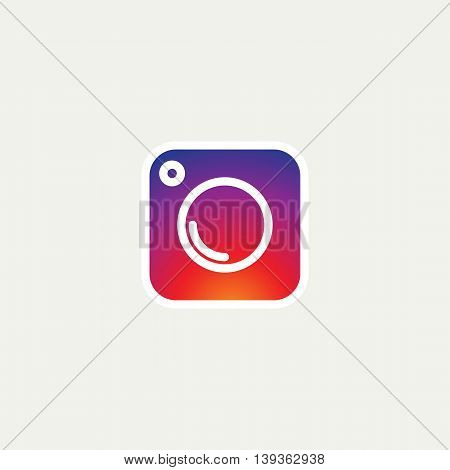 Social Media Icon, Collection of universal photo camera instagram icons, gradient vector flat illustration