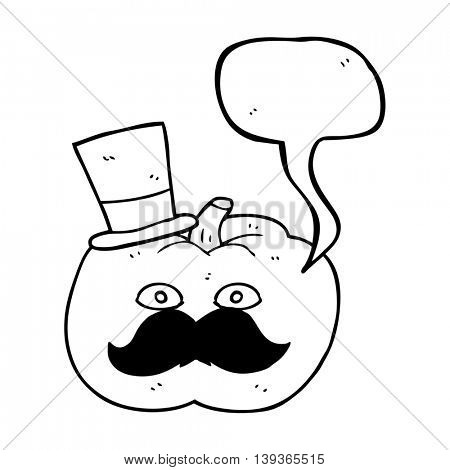 freehand drawn speech bubble cartoon posh tomato