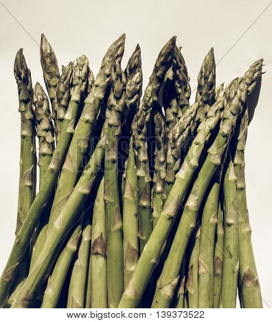 Green Asparagus Vegetables Vintage Desaturated