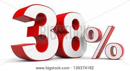 Discount 38 percent off sale. 3D illustration.