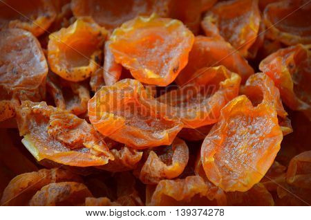 Dried apricots - a lot of vitamin candied fruit, dried apricots