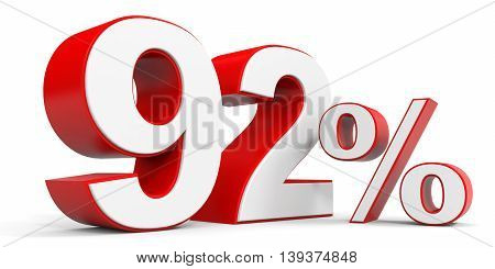 Discount 92 percent off sale. 3D illustration.