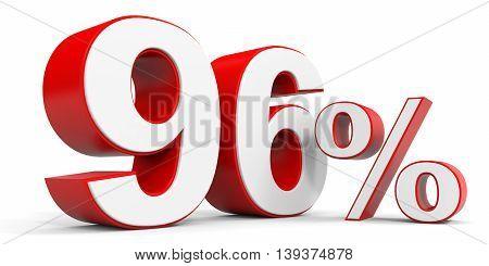 Discount 96 percent off sale. 3D illustration.