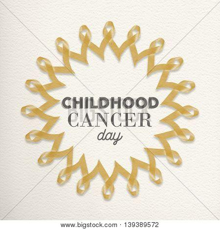 Child Cancer Day Mandala Made Of Ribbons