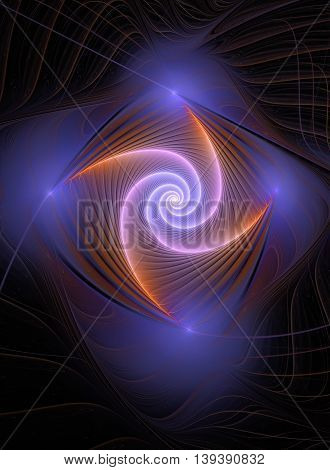 Colorful abstract fractal background swirl or whirligig shape
