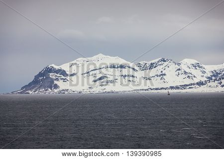 Northern Norway near Longyearbyen in Spitsbergen Svalbard