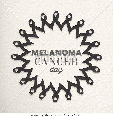 Melanoma Cancer Day Mandala Made Of Ribbons
