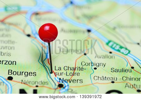 La Charite-sur-Loire pinned on a map of France