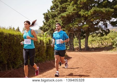 Three Long Distance Runners In A Race
