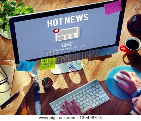 Hot News Newsletter Announcement Daily Concept