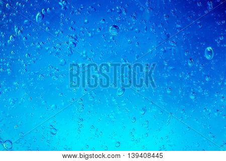 water bubbles flowing in a blue background