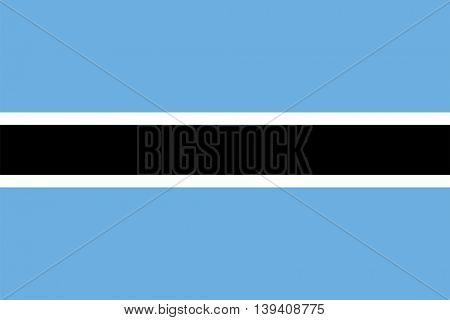 Vector Republic of Botswana flag