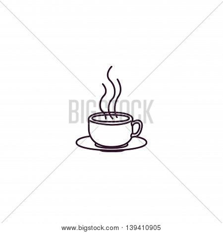 white cup isolated icon design, vector illustration graphic