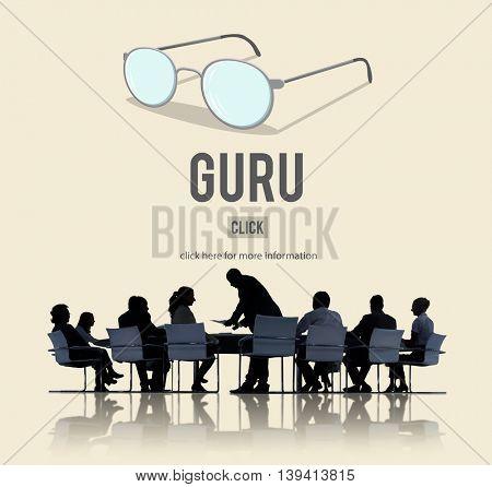 Guru Master Mentor Leader Professional Concept poster