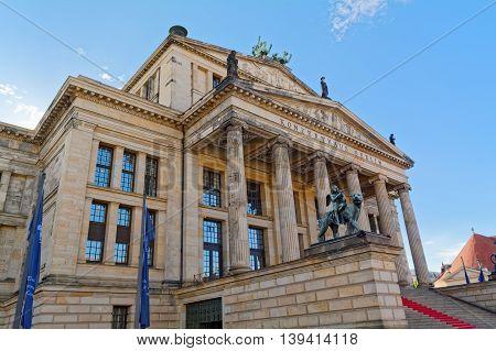 Concert hall (Konzerthaus) on the Gendarmenmarkt square in Berlin, Germany.