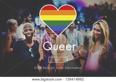Queer Gay Transgender Transexxual Homosexual Concept