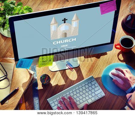 Church Christian Catholic Protestant Orthodox Believe Worship Concept