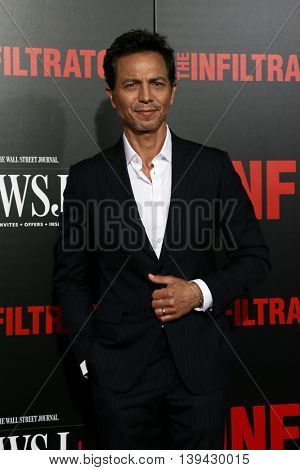 NEW YORK-JULY 11: Actor Benjamin Bratt attends 'The Infiltrator' New York premiere at AMC Loews Lincoln Square 13 Theater on July 11, 2016 in New York City.