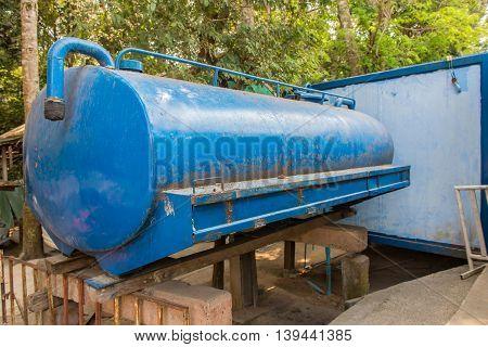 Sewage Treatment Tanks Or Water Tank In Rural