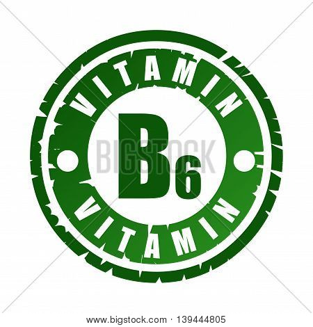 Rubber Stamp With Vitamin B6