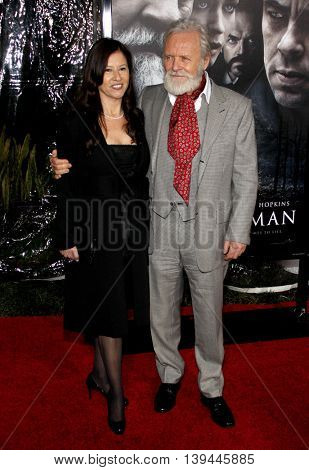 Anthony Hopkins at the Los Angeles premiere of 'The Wolfman' held at the ArcLight Theater in Hollywood, USA on February 9, 2010.