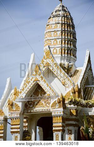 close up Thai Style Joss House in country Thailand