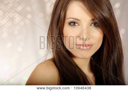 Portrait of a beautiful sexy woman.