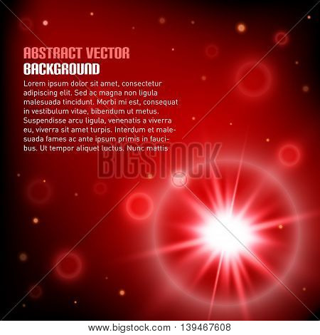 Abstract background with realistic flair. Vector illustration.