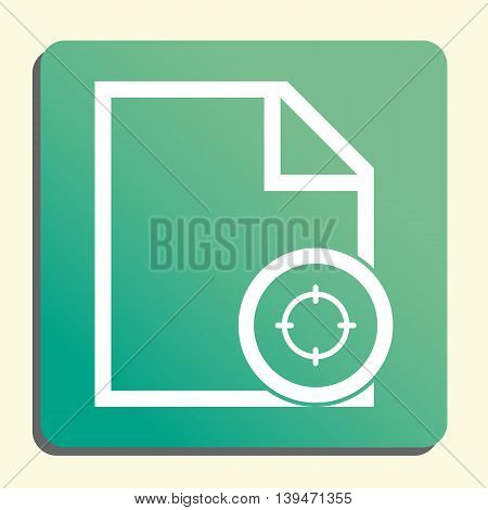 File Goal Icon In Vector Format. Premium Quality File Goal Symbol. Web Graphic File Goal Sign On Gre