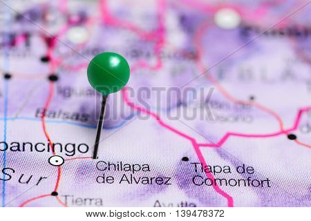 Chilapa de Alvarez pinned on a map of Mexico