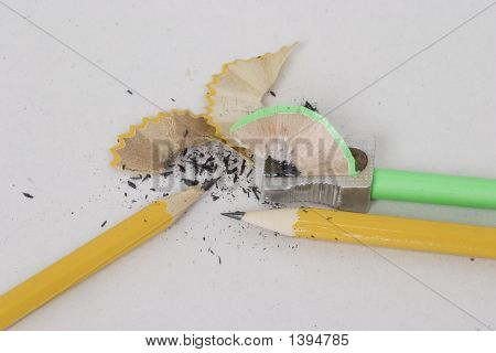 Pencils,Sharpener,Shavings