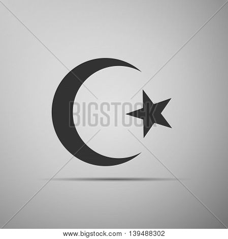 Islam symbol icon on grey background. Adobe illustrator