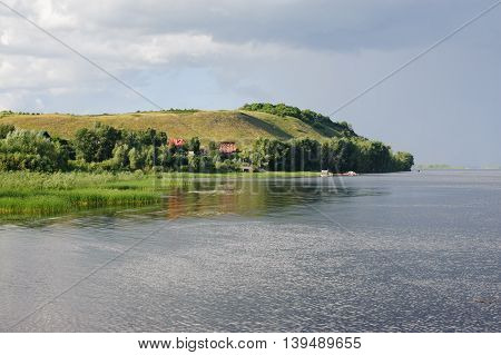 Beautiful landscape around Vinnovka village. View from river Volga