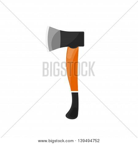 Axe in a flat style. Camping, hiking, surviving Vector illustration