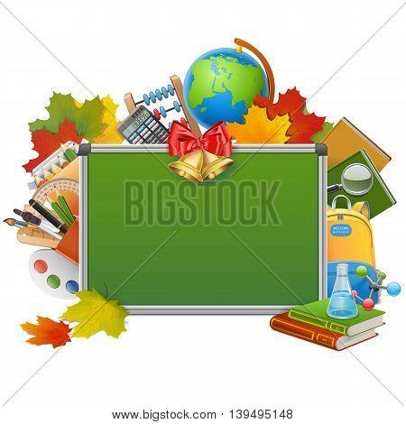 Vector School Blackboard isolated on white background
