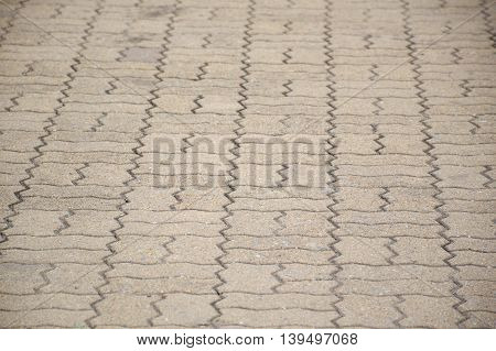 close up old cement brick floor texture