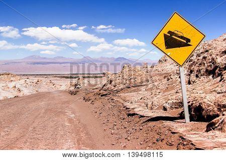 Photo of Road in the lifeless Atacama desert