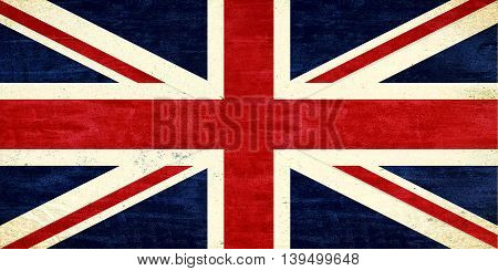 Illustration of a Union Jack with a grunge look