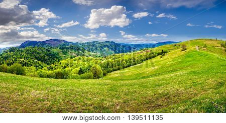 Idyllic View Of Rural Landscape In Mountains.