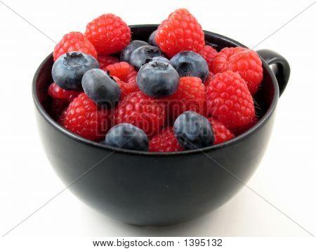Fresh Berries In Black Cup