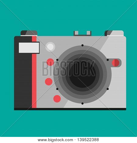 Camera icon isolated on background. Modern simple flat snapshot photography sign. Instant Photo internet concept. Trendy vector symbol for website design, web button, mobile app. Logo illustration