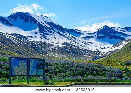 Landscape Along The Eyjafjordur