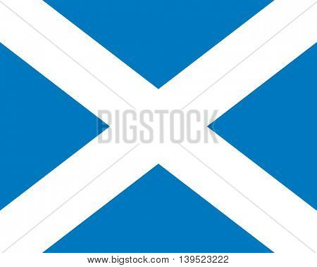 Vector Scotland flag