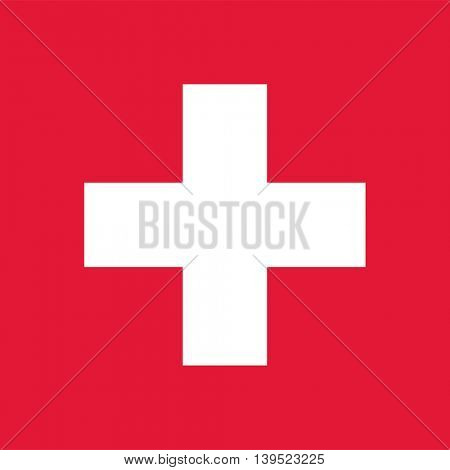 Vector Swiss Confederation flag