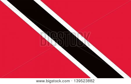 Vector Trinidad and Tobago flag