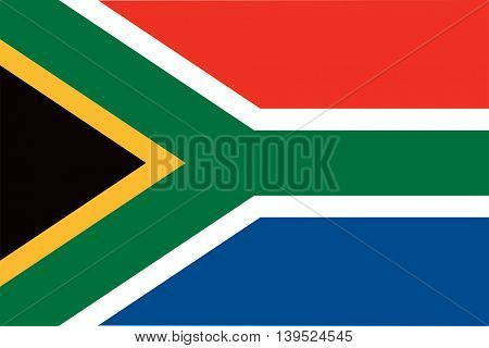 Vector Republic of South Africa flag