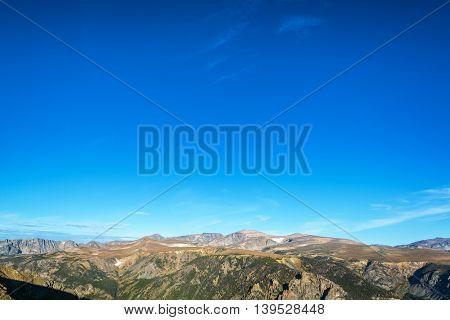Beartooth Mountains And Blue Sky