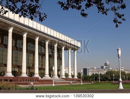 Almazar Square in the city of Tashkent the capital of Uzbekistan