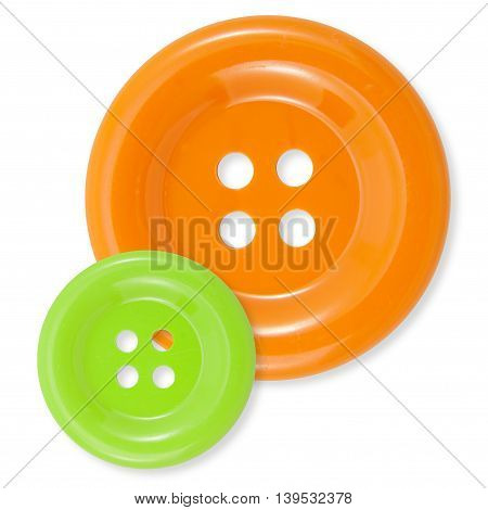 Orange and green clasper isolated on white