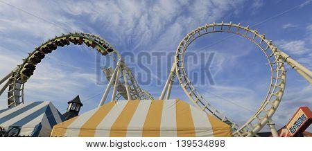 July 11, 2016 Rollercoaster ride on boardwalk in Wildwood NJ.